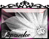 *R* B & W Flower Sticker