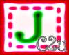 C2u letter J Sticker