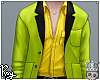 Vivid Green Suit Top