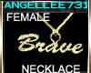 GOLD NECKLACE -BRAVE-FEM