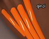 q! orange nails
