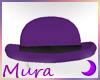 Derby Bowler Purple Hat