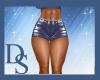 Indigo PVC Shorts