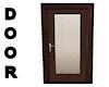 !Door frosted brown