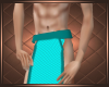 L Blue Loincloth Short