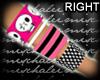 m.. Bracelet Skull Pink
