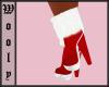 Santa boots cute red