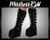 Gothic wedge boots