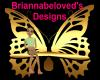 golden butterfly bench