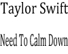 Taylor Swift-NTCDown