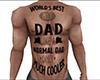 Best Dad Tattoo Front M