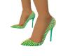 Light Green Spike Heels