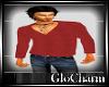 Glo* V~Neck KnitRed