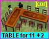 [cor] Table for 11 + 2