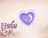 MEW purple heart bindi