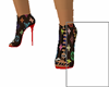 LV Heels/Nails RedBottom