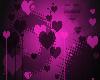 pink black heart ears
