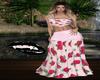 Summer Roses Print Dress