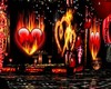 coeur love flamme