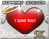 .xpx. Support Sticker 5k