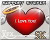 .xpx. Support Sticker 5k