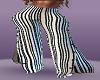 striped open leg pants