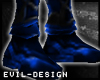 #Evil Silver Blue Boots