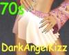 !70s Retro skirt~Pink