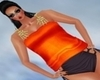 Orange Skelton Top