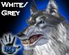 |Imy| Wolf Head- Wht/Gry