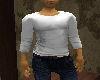 [LM]men's white shirt