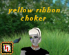 yellow ribbon choker