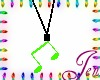 [Jen]Neon Note necklace