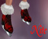 red plaid skates