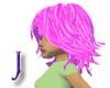 Spunky Pink Amy Hair