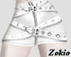 Belted skirt ||White