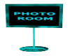 Aqua Photo Room Sign