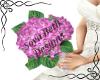 Pink Hydranea bouquet