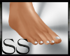 *SS Smal Flat Feet White