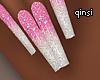 q! pink qeen nails