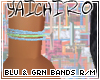 Blu & Grn Bands R/M