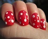 *C* Red and White Nails