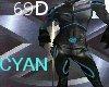 {69D} X-Squad Suit CYAN