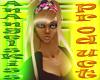 blonde hippie headband