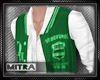 !M! Varsity Jacket Green