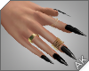 ~AK~ Nails: Gold/Onyx
