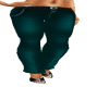 PF Teal Butterfly pant