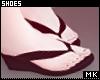 金. Black Sandals