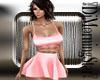 Pink Tie Mini Dress