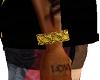 Gold design bangle